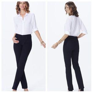 Nydj Marilyn black straight leg jeans size 10